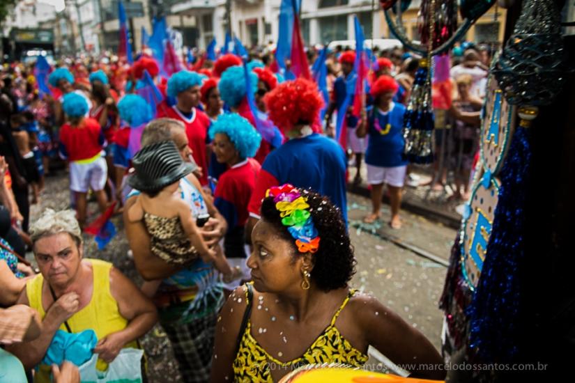 Fotografia marginal de um bloco decarnaval
