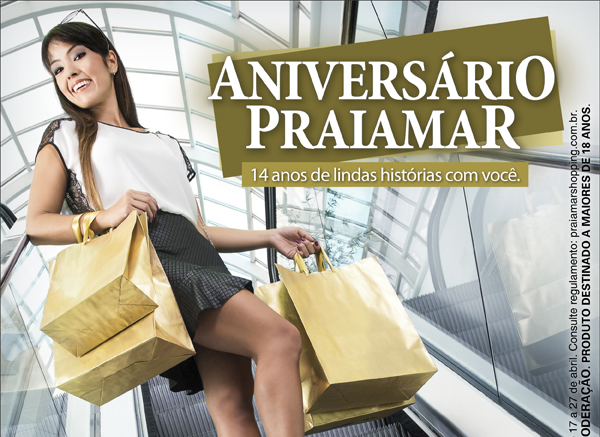 14 anos do ShoppingPraiamar
